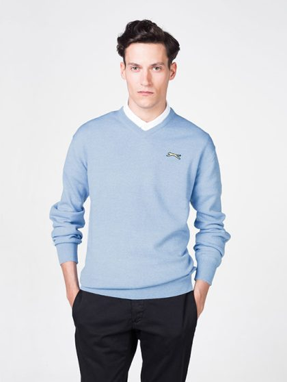 Slazenger Sky Blue Golf Jumper