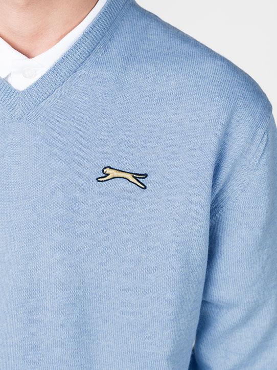 Slazenger Sky Blue Golf Jumper