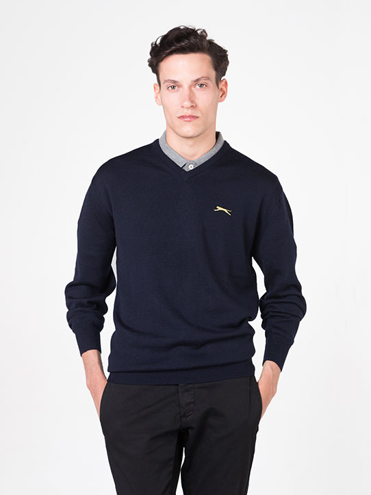 Navy Blue Golf Jumper