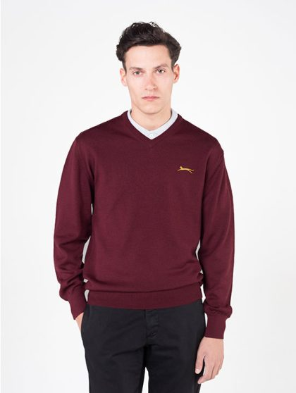 Slazenger Burgundy Golf Jumper