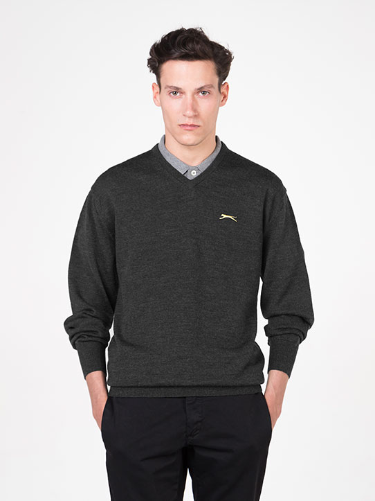 Slazenger Charcoal Golf Jumper