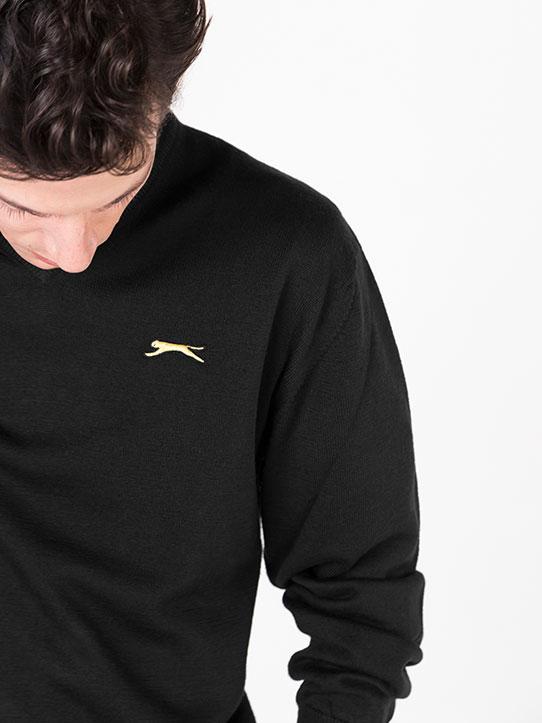 0b833455ae0 Slazenger Black Golf Jumper - Jack - Slazenger Heritage Online Shop