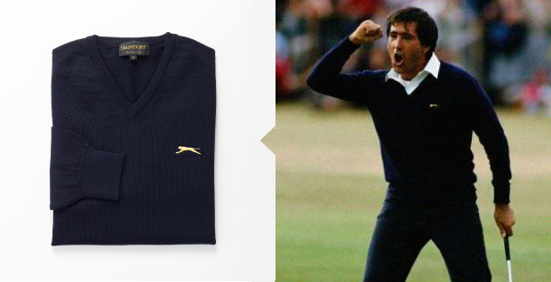 golf jumper inspired by golf legend seve ballesteros