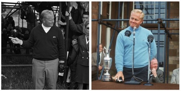 black and sky blue slazenger golf jumpers