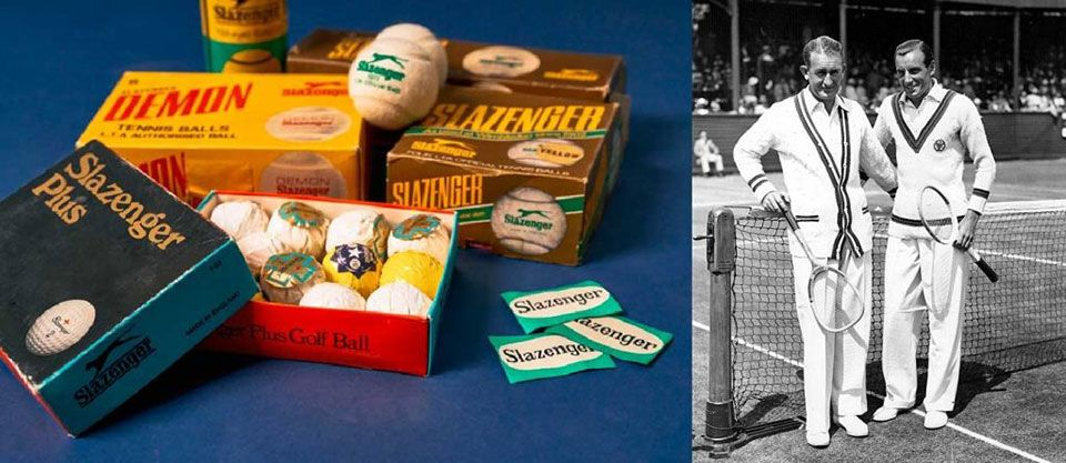 Vintage tennis rackets and Slazenger Vintage tennis