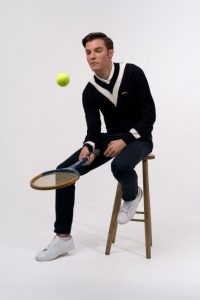 slazenger tennis jumper blue