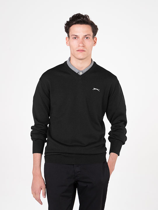 merino wool jumper black
