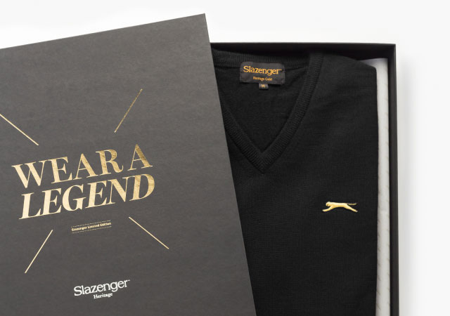 Box sweater of Slazenger Heritage