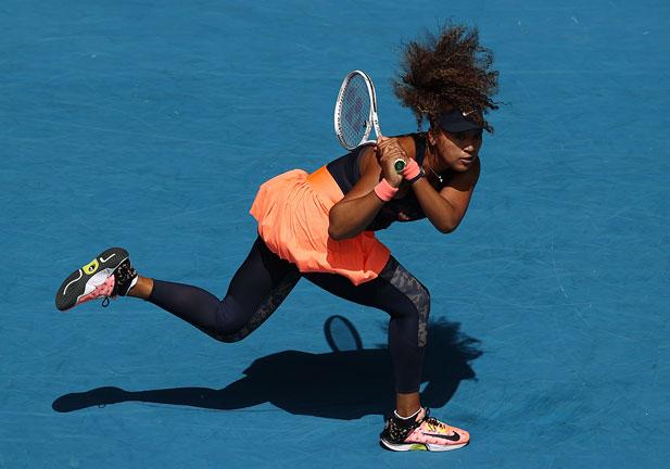 Naomi Osaka during a tennis match